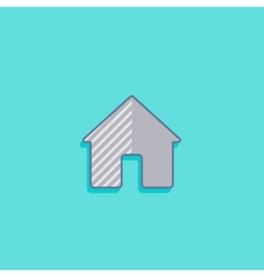 simple with a house home icon flat design vector image vector image