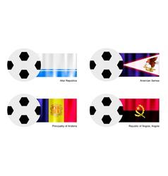 Soccer ball of altai american samoa andorra vector