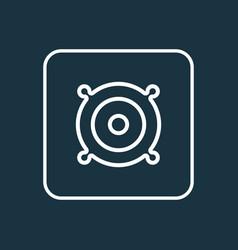 speaker outline symbol premium quality isolated vector image