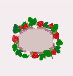 strawberry frame isolated vector image vector image