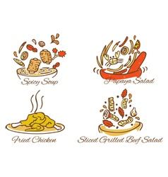 Thai foods vector