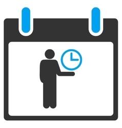 Time manager calendar day toolbar icon vector