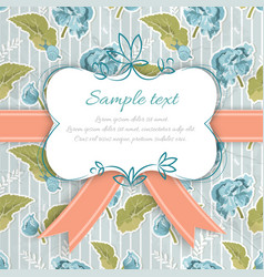 vintage decorative greeting card vector image vector image