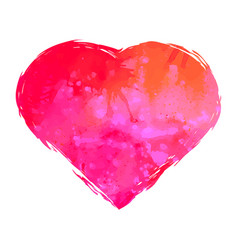 Watercolor heart isolated on white background vector