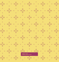 Yellow background with simple flower pattern vector