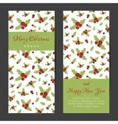 Greeting card or banner for christmas and new year vector
