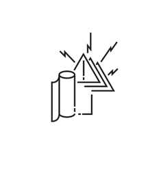 Warning toilet paper ends icon vector