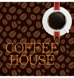 Coffee house menu template vector image