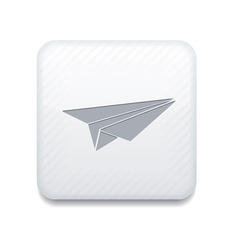 white origami plane icon Eps10 Easy to edit vector image