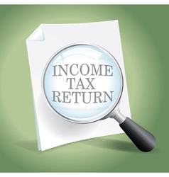 Reviewing an income tax return vector