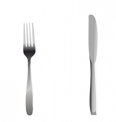 knife and fork set vector image