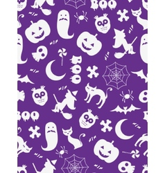 Seamless Halloween background vector image