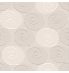 Pastel seamless background made of spirals and cir vector