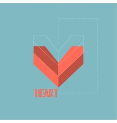 Abstract background with drawings of the heart vector
