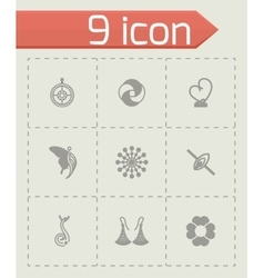 Jewellery icon set vector