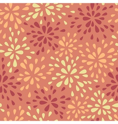 Abstract warm seamless pattern with floral motif o vector