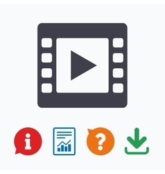 Video sign icon movie frame symbol vector