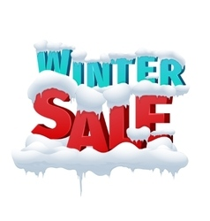 Winter sale 3d inscription on white vector
