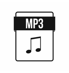 Mp3 file icon simple style vector