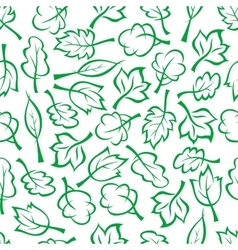 Spring green trees and bushes seamless pattern vector