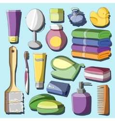 Set of bath accessories vector