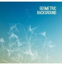 Geometric abstract mesh background with circles vector
