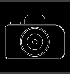 Camera the white path icon vector