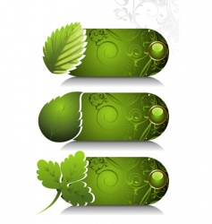 card design with stylized leaf vector image