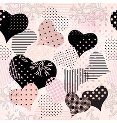 Collage of hearts vector