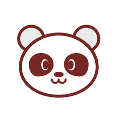 Cute panda face image vector