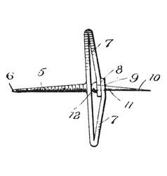 Device fastener vintage vector