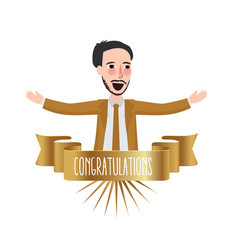 employee of the month congratulations business vector image vector image