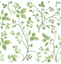 floral leaves seamless pattern garden blossom vector image vector image