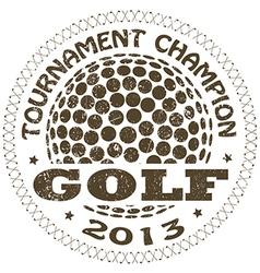 Golf label vector