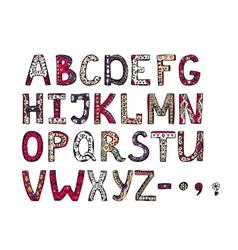 hand drawn ornamental alphabet vector image