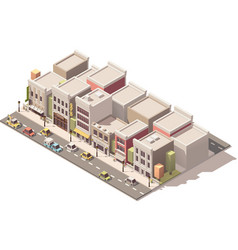 Isometric small town street vector