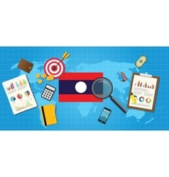 Laos economy economic condition country with graph vector