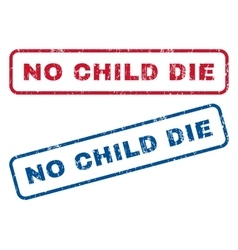 No child die rubber stamps vector