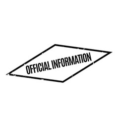 official information rubber stamp vector image vector image