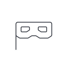 Privacy mask masquerade thin line icon linear vector