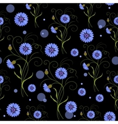 Seamless pattern with daisy flowers vector image vector image