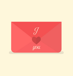 valentines love letter vector image