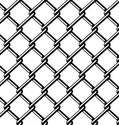Wire fence seamless black silhouette vector