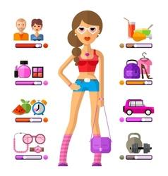 Young girl logo design template lifestyle vector