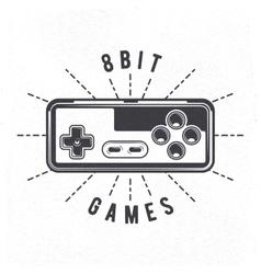 Retro 8 bit video game joystick vector