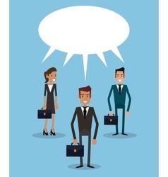 Teamwork business persons bubble speech dialog vector