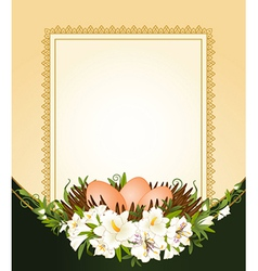 Easter frame border vector