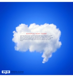 Speech cloud vector