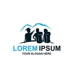 Tourism guide logo vector