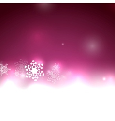 Purple christmas lights and snowflakes vector